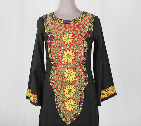 Pakistani Embroidered Mirror Maxi Dress
