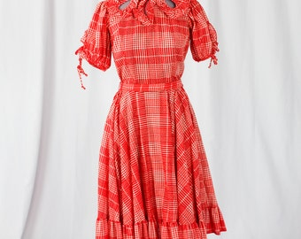 60s Western Square dance Dress