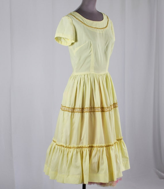50s Pale Yellow Patio Dress