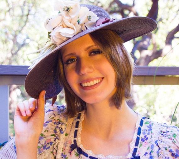 Wide-Brim Brown Straw Hat by Parkridge