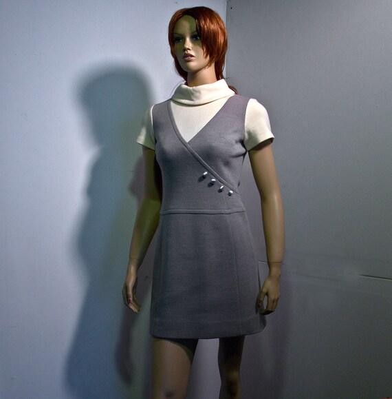 Lilli Ann 60s Mod Knit Dress