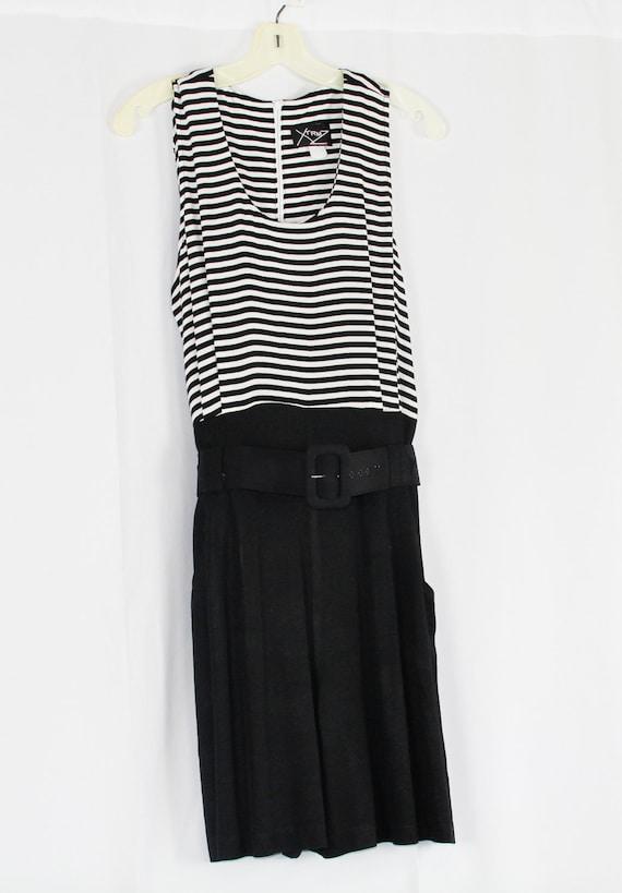 Black and White Culotte dress
