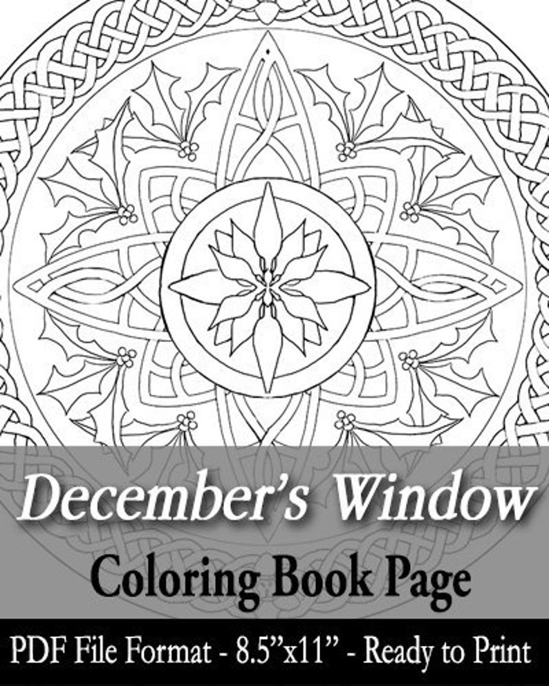 Printable Coloring Book Page for Adults  December Birth image 0