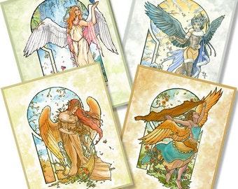 Set of Prints - Angels of the Seasons Series
