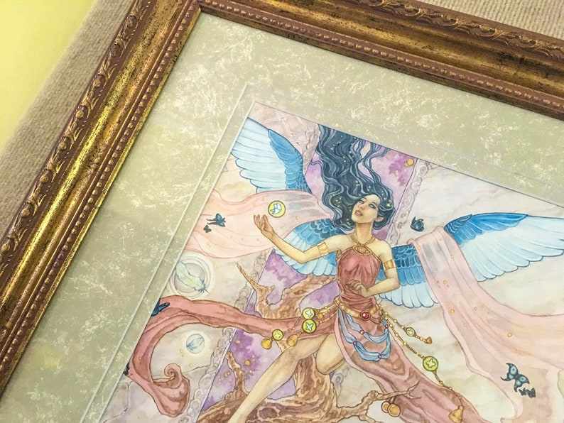 Framed Original Glimpse of Eden from Angelic Visions Angel image 0