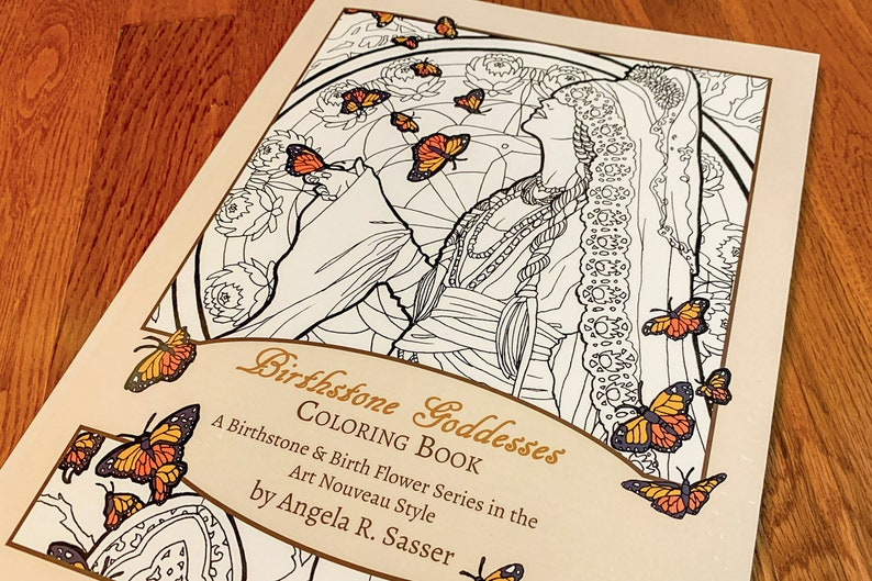 Birthstone Goddesses Coloring Book: A Birthstone and Birth image 0