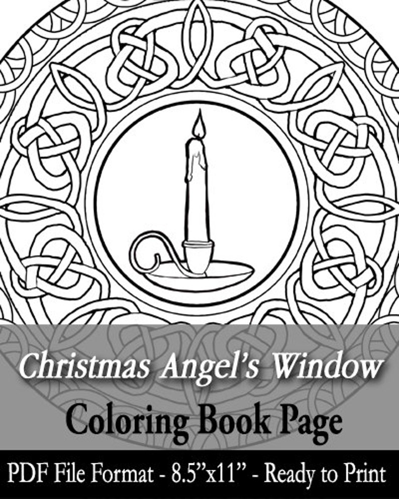 Printable Coloring Book Page for Adults  Christmas image 0
