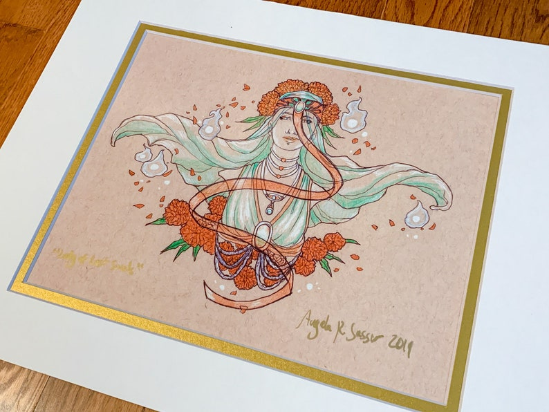 Fine Art Print Goddess of October Lady of Lost image 0