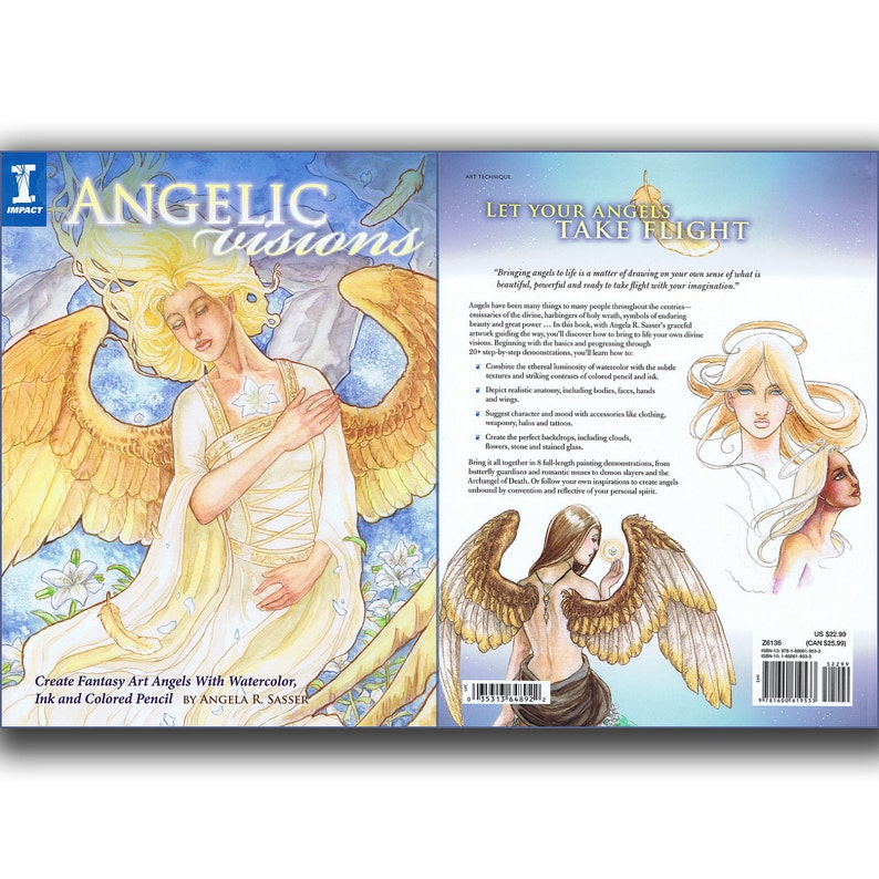 Angelic Visions Book Learn How to Draw and Paint Fantasy image 0