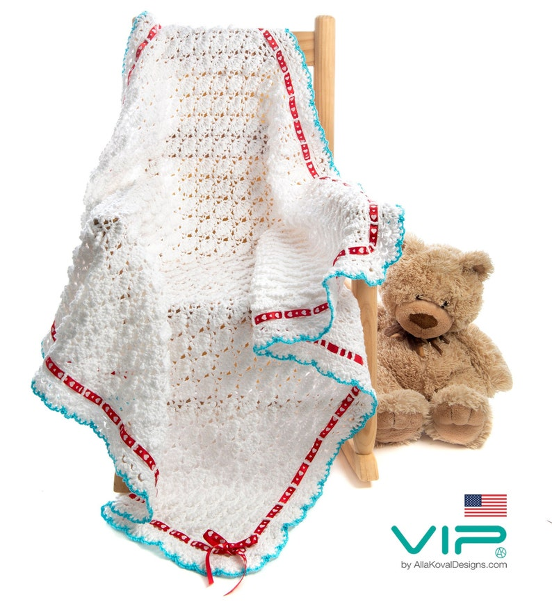 VIP  ENGLISH US Fluffy Clouds Baby Girls Toddler Blanket image 0