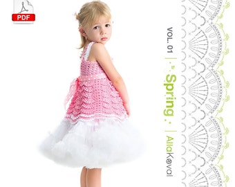DIGITAL CROCHET PATTERNS Book Imagical Seasons: Spring, vol. 01; Crochet Couture for Kids 2-12 Pdf eBook Craft