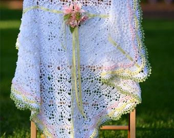 2 CROCHET PATTERNS Hugs of Love Crocheted Ruffled Blankets eBook Crochet Pattern in PDF Instant Download