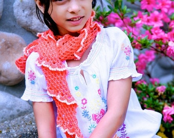 CROCHET PATTERN Coral Reef Scarf, Gloves and Pin 3pc set ebook PDF