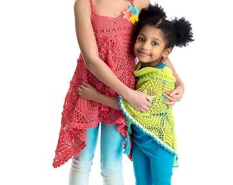 CROCHET PATTERN Petalline Dress & Poncho Crochet Pattern in PDF Also Available in Imagical Seasons Summer Pattern Book