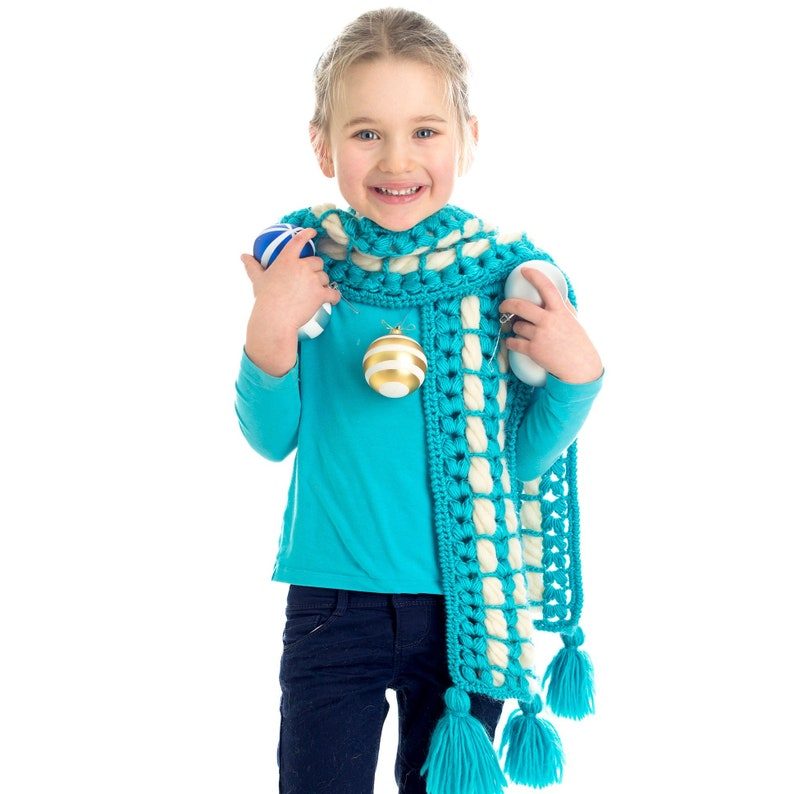 CROCHET PATTERN Cream Puff Scarf Crochet Pattern for Kids & image 0