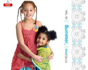 DIGITAL CROCHET PATTERNS Book Imagical Seasons: Summer, vol. 02; Crochet Couture for Kids 2-12 Pdf eBook Craft