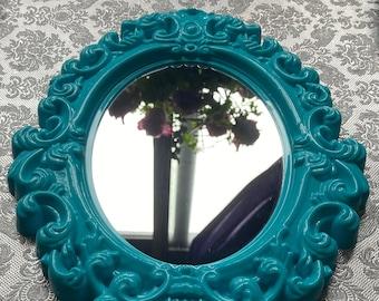 Plastic Ornate Framed Mirror