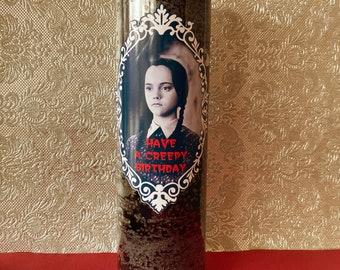 Wednesday Addams Creepy Birthday 7 Day Decorative Candle
