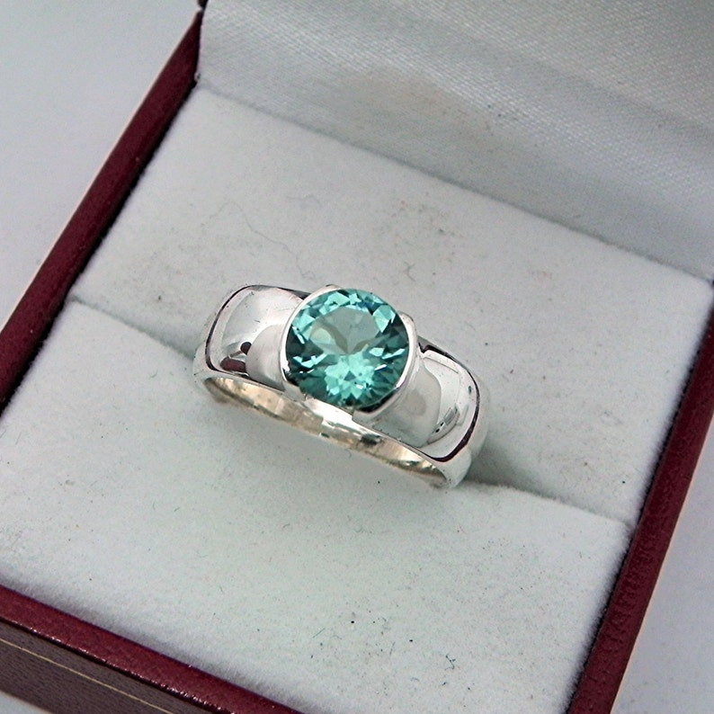 Jewelry & Watches 6.80 Carat Natural Tourmaline 14k Solid White Gold Diamond Ring