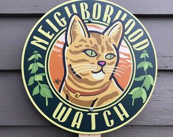 Neighborhood Watch - Garden Sign