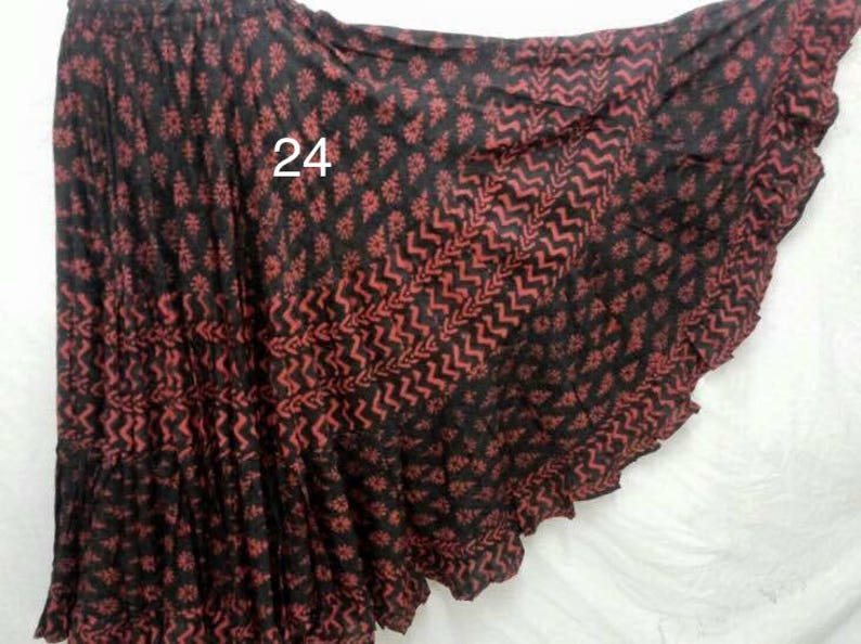 25 yd Block Print Veg Dye Skirt no 24