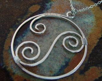 Inside Swirls - sterling silver necklace