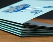 6 pack Dreidel Girl Hanukkah Cards
