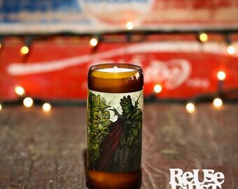 Repurposed Three Floyd's Zombie Dust Beer Bottle Soy Candle
