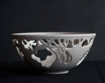 Tree Bowl in White