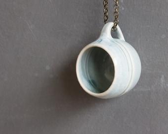 Mug Necklace: Seafoam Green