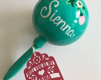 Maraca and Tag Bridesmaid Proposal Will you be my Bridesmaid Groomsmen for Wedding or Dama for Quinceanera Laser Cut gift maid of honor gift