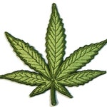 Cannabis Marijuana Leaf embroidered Iron on Patch-Applique -  Hand Crafted in USA - 3 Sizes