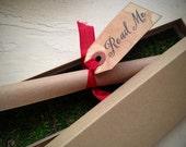 Vintage Style Invitation - Boxed, scroll invitation - Shower, birthday invitation, anniversary - Alice in Wonderland Invitation