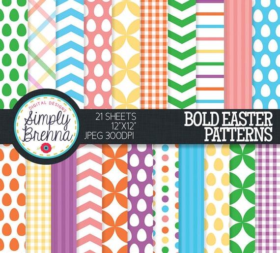 Frühling Ostern Muster Papier Pack Papier bunt gemusterten | Etsy