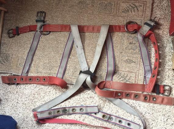 INDUSTRIAL SAFETY HARNESS vintage belt suspenders