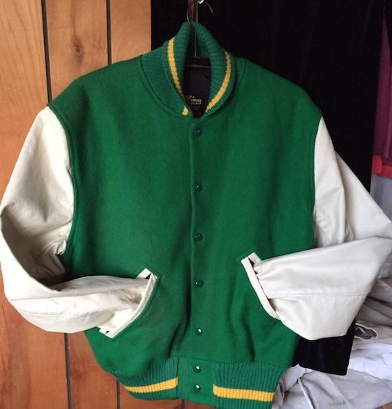 UNISEX LETTERMAN JACKET vintage student coat wool