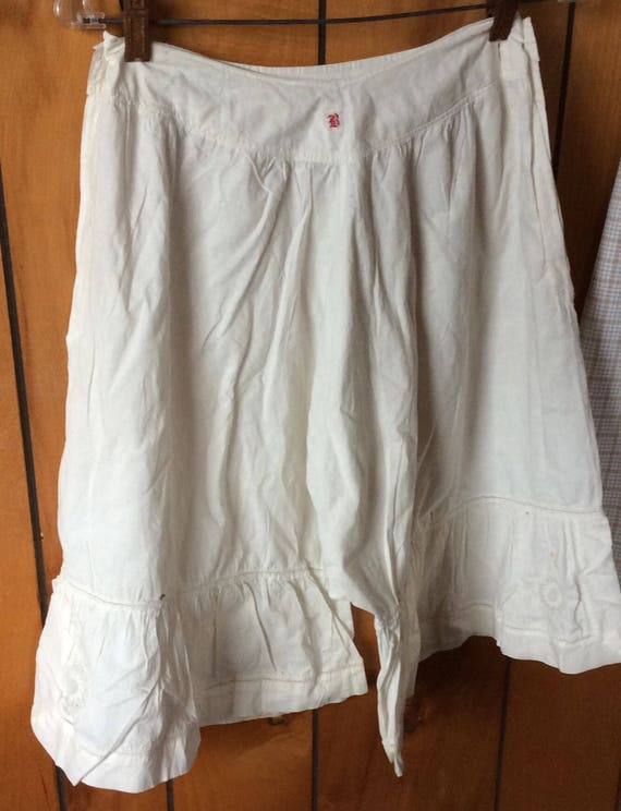 ANTIQUE BLOOMERS PANTALOONS, vintage undergarment,