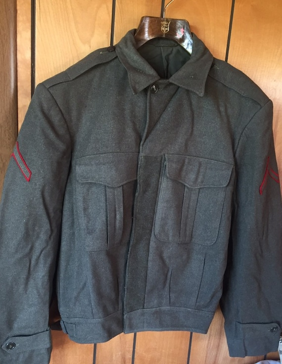 WW 2 OFFICERS JACKET vintage uniform coat wool wai