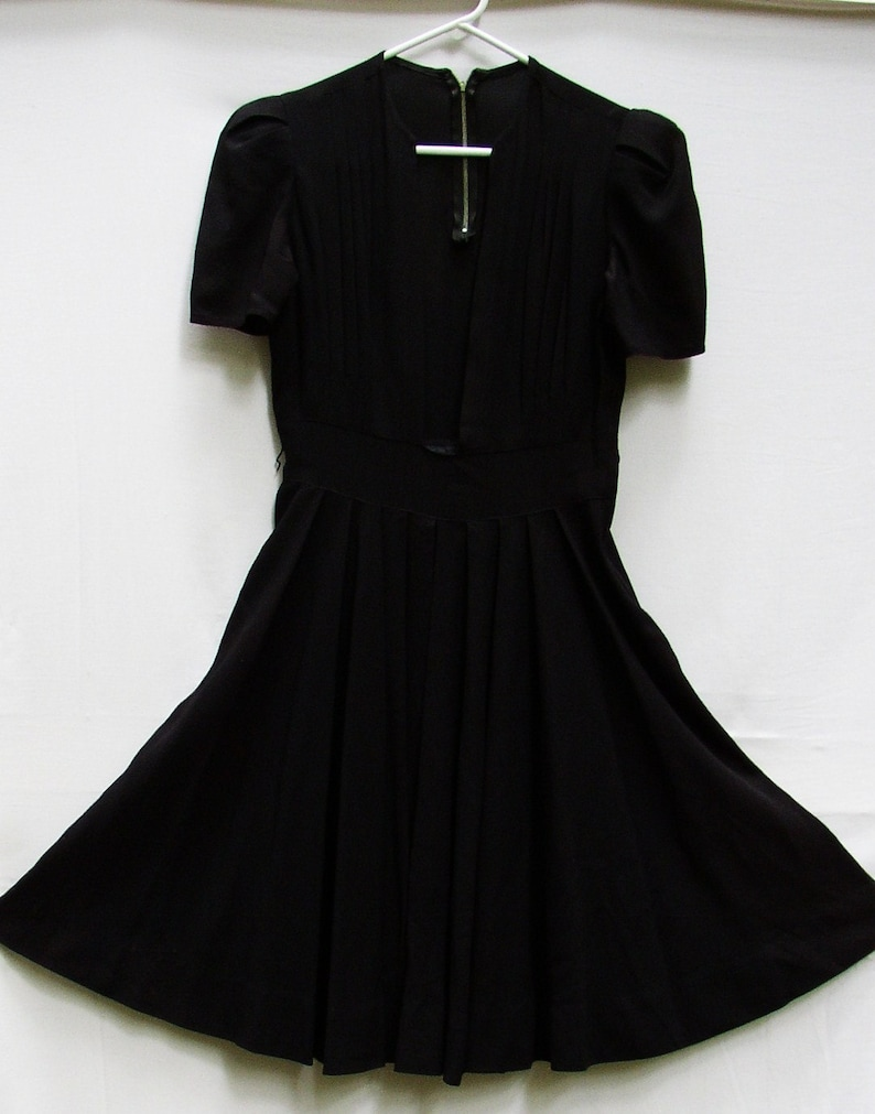 Perfect Little Black Dress Vintage Forties Classic Sexy Simplicity Swingy Drapey