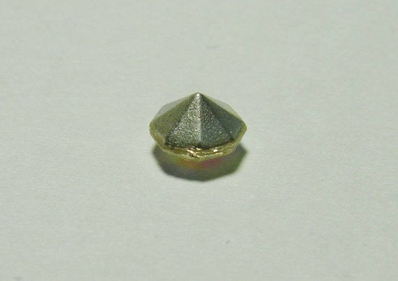Vintage Smoky Topaz 29ss Faceted Chaton Jewels from Czechoslovakia 12