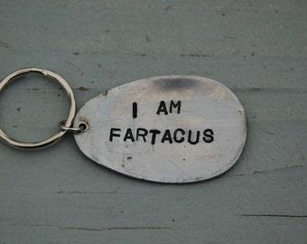 i am fartacus key ring