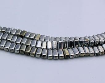 Czech Glass Beads - CzechMates Bricks Bead 3/6mm :Silver