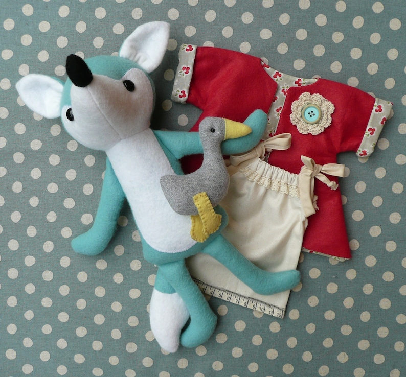 Miss Foxy and Waddles PDF Sewing Pattern image 0