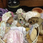 One extra small dressed teddy bear, samples only