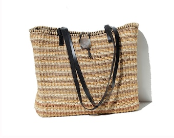 Straw Weave Tote Bag