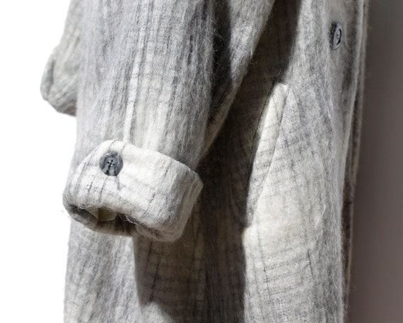 Vintage Gray Wool/Cashmere Oversized Coat