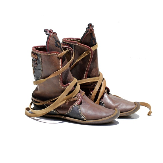 Size: 7 / Vintage Women's Brown Leather Hard-sole