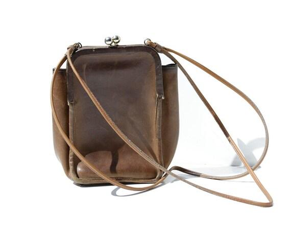 Vintage COACH Bonnie Cashin Brown Leather Double F