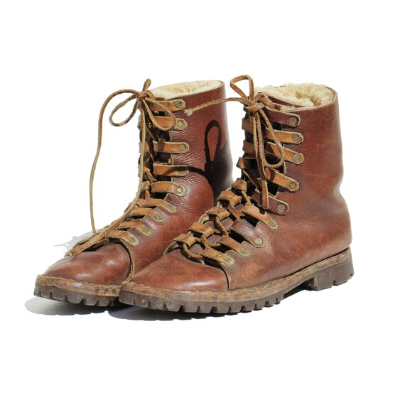 Size: 10 / Vintage Men's Insulated Brown Leather L