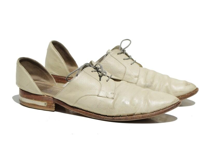 11  Vintage Men/'s Ivory Freda Salvador Lace-up Oxford Size